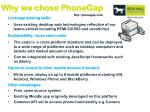 why we chose phonegap