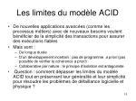 les limites du mod le acid1