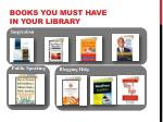 books you must have in your library
