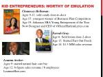 kid entrepreneurs worthy of emulation