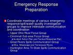 emergency response preparation