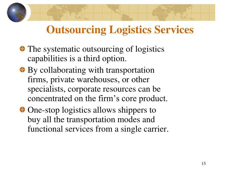 Outsourcing Logistics Services