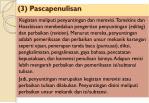 3 pascapenulisan