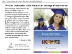 results that matter 21st century skills and high school reform