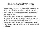 thinking about variation