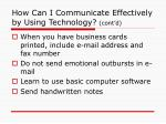 how can i communicate effectively by using technology cont d