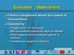 evaluation observations