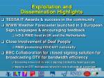 exploitation and dissemination highlights