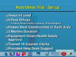 post office trial set up
