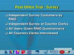 post office trial survey
