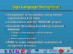 sign language recognition1