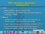 wp4 synthetic animation introduction