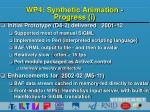 wp4 synthetic animation progress i