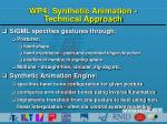 wp4 synthetic animation technical approach