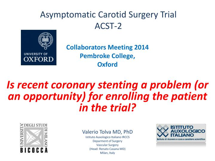 asymptomatic carotid surgery trial acst 2 n.