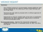 variance request1