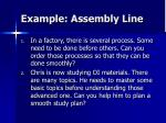 example assembly line