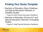 finding your study template
