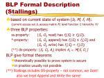 blp formal description stallings