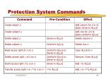 protection system commands