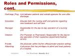 roles and permissions cont