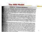 the hru model2
