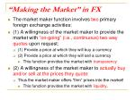 making the market in fx