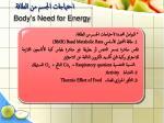 body s need for energy