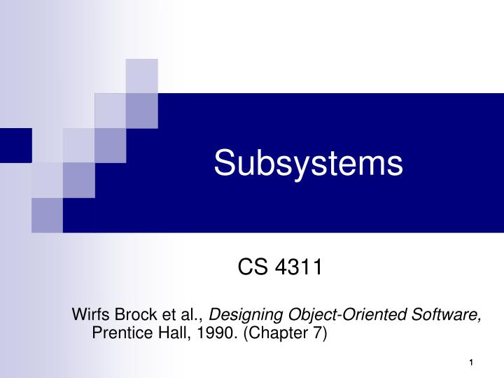 subsystems n.