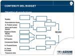 contenuti del budget obiettivi di produzione2