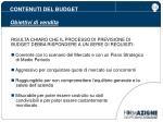 contenuti del budget obiettivi di vendita3