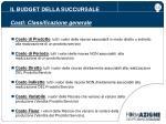 il budget della succursale costi classificazione generale1