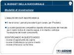 il budget della succursale modalit di ricostruzione2