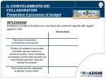il coinvolgimento dei collaboratori presentare il processo di budget21