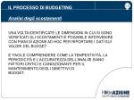 il processo di budgeting analisi degli scostamenti9