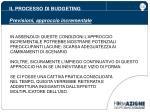il processo di budgeting previsioni approccio incrementale