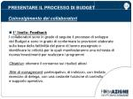 presentare il processo di budget coinvolgimento dei collaboratori1