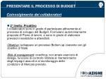 presentare il processo di budget coinvolgimento dei collaboratori2