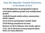 how the apostles tracked outcomes in the book of acts1