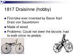 1817 draisinne hobby