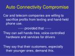 auto connectivity compromise