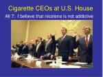 cigarette ceos at u s house