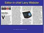 editor in chief larry webster