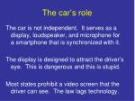 the car s role