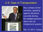 u s dept of transportation