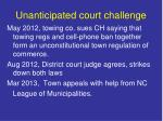 unanticipated court challenge