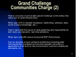 grand challenge communities charge 2