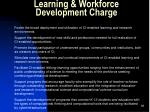 learning workforce development charge