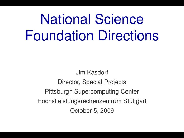 national science foundation directions n.
