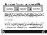 business impact analyse bia